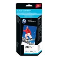 HP 300 Photo Starter Pack-50 sht/10 x 15 cm